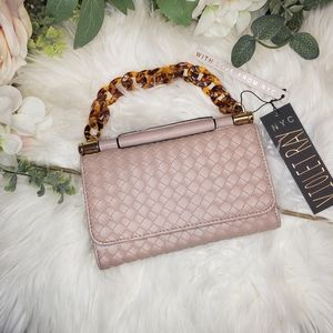Clutch Blush Pink with Amber-like handle
